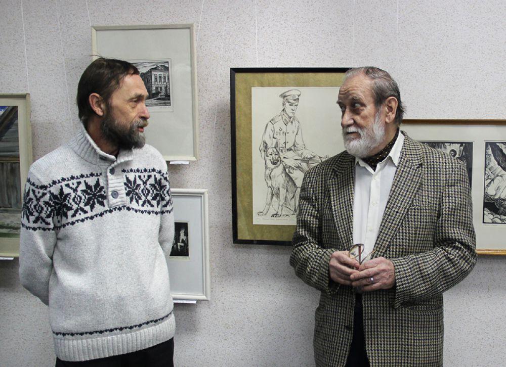 Многог тёплых слов об авторе и его работах сказал председатель Ульяновского отделения Союза художников Николай Чернов