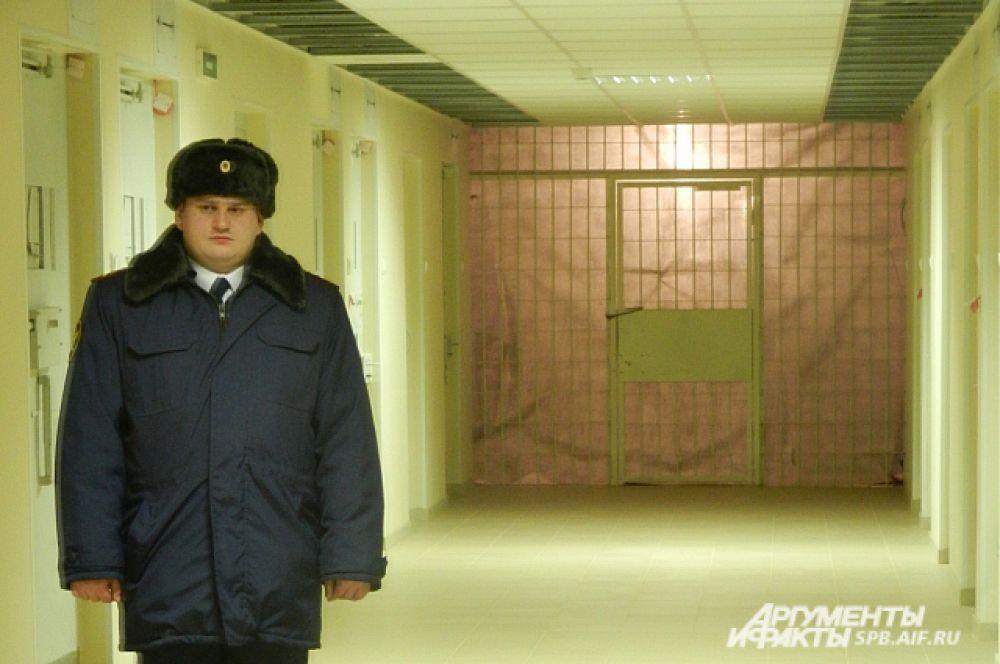 Везде: в коридорах, на лестницах, в переходах - строгая и неподкупная охрана.