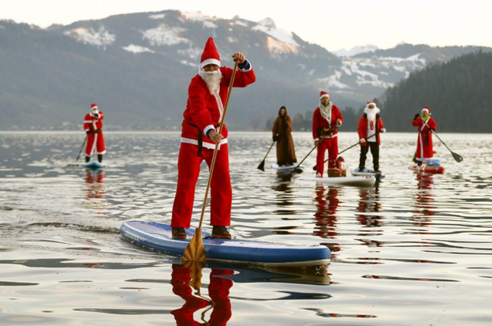 и на соревнованиях по гребле на озере Агерзее