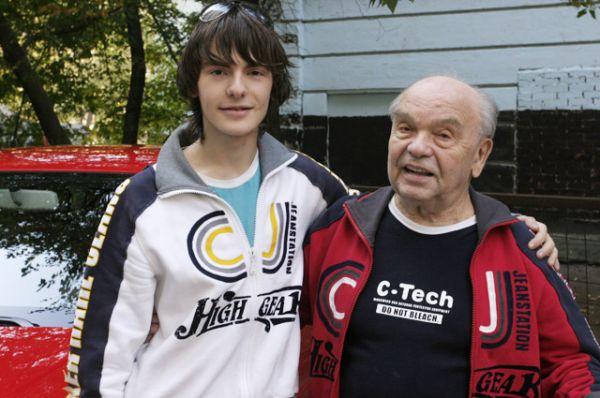 Владимир Шаинский с сыном Славой, 2005 год.
