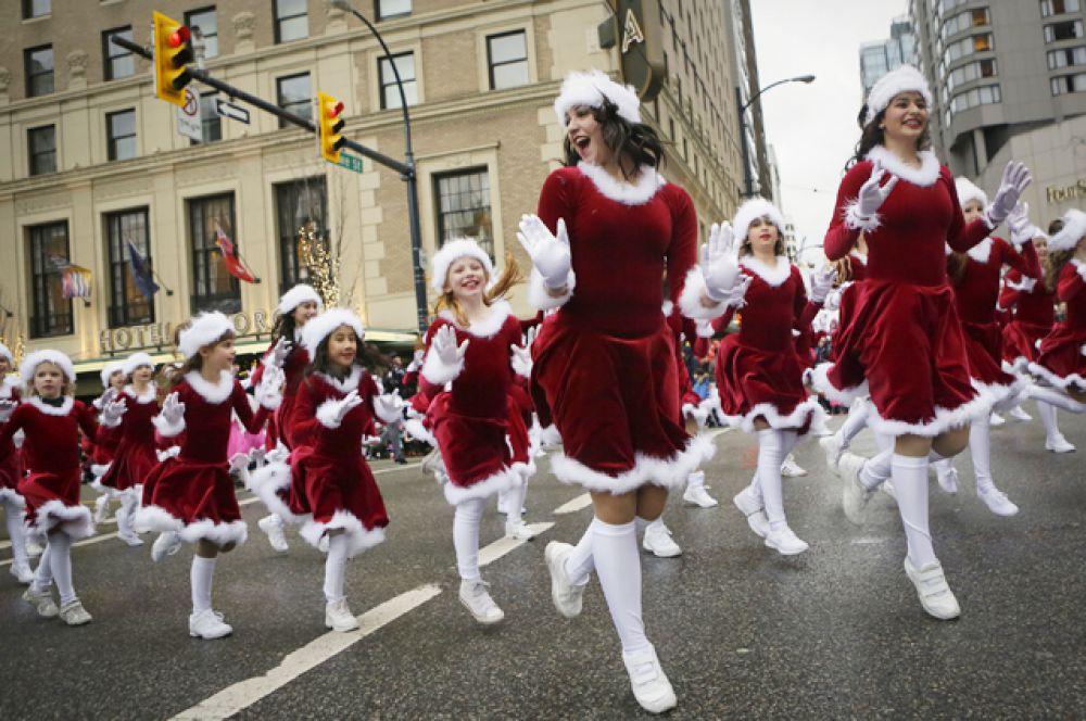 Парад Санта-Клаусов, Ванкувер, Канада