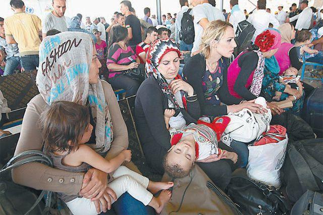 Среди тысяч беженцев немудрено встретить и россиянок.
