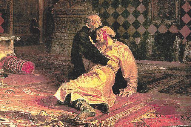 Картина И. Репина «Иван Грозный и сын его Иван 16 ноября 1581 года».