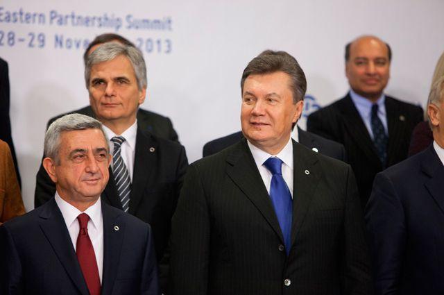Виктор Янукович на саммите «Восточное партнёрство».