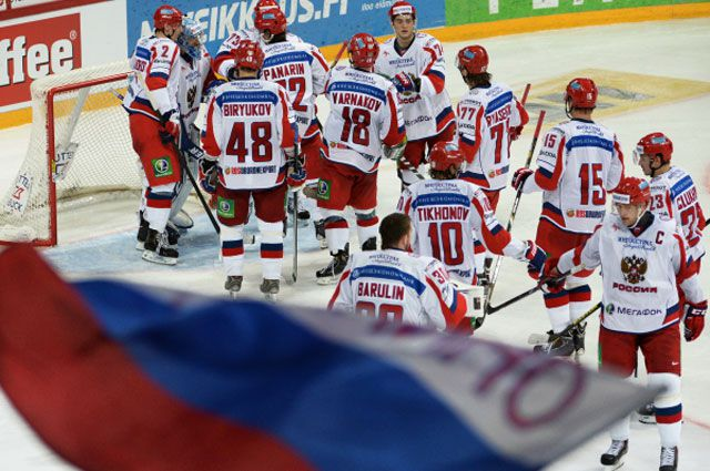 Сборная России по хоккею на втором этапе Еврохоккейтура 2013/14 «Кубок Карьяла».