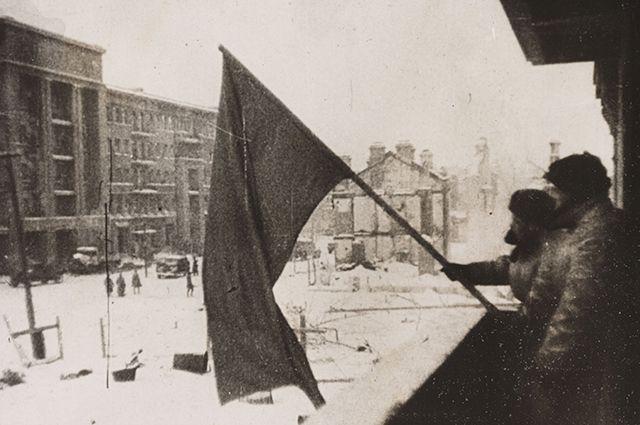 Советские солдаты в Сталинграде.
