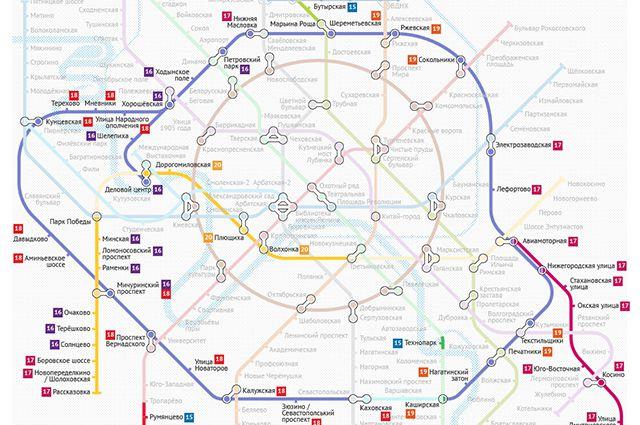 Карта москвы с метро и улицами 2020 г скачать