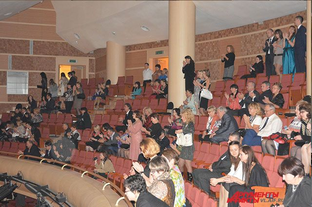 Зрительный зал в Приморском театре оперы и балета.