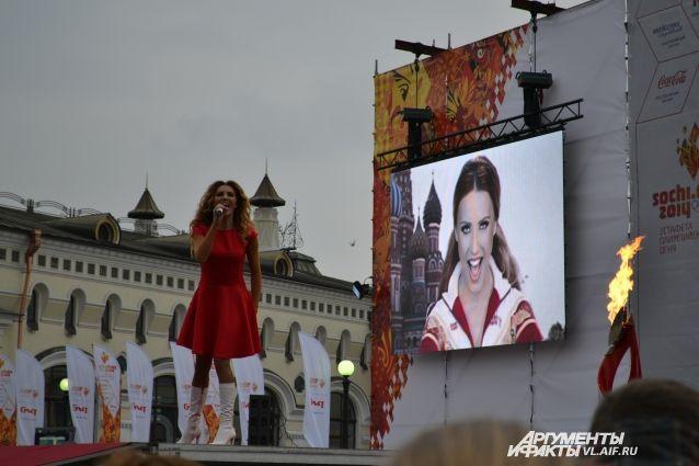 Владивосток прощается с Олимпийским огнём.