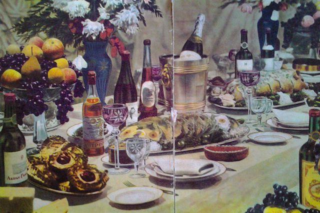 Так выглядел Новогодний стол по-советски в книгах.