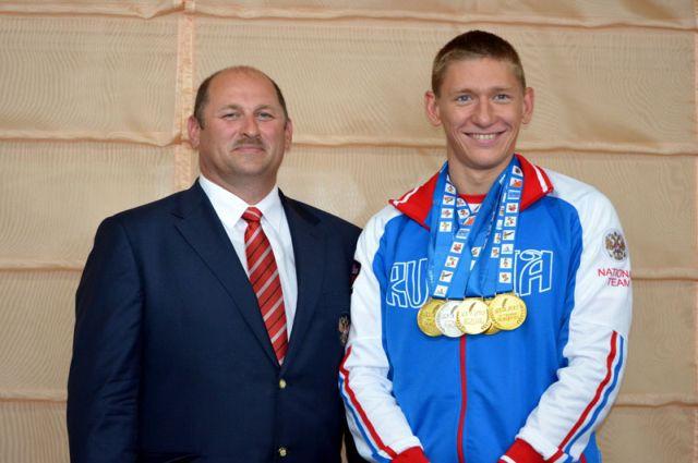 Виталий Оботин с тренером