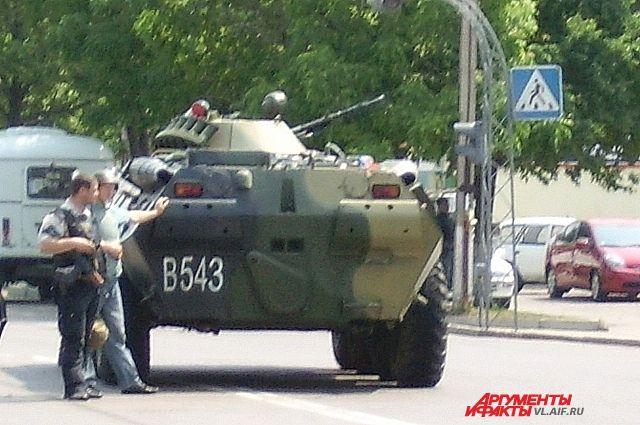 При захвате «приморских партизан» была использована бронетехника.