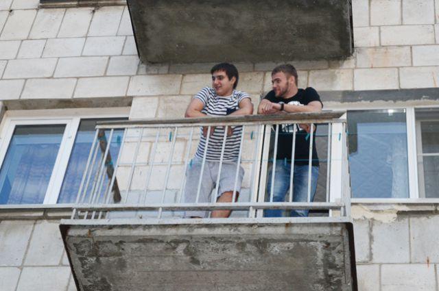Окно соседей на балконе..