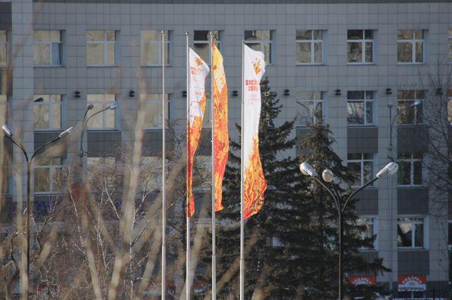 Флаги Олимпиады.