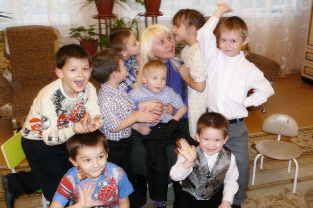 Ребятишки из Сосновоборского детского дома