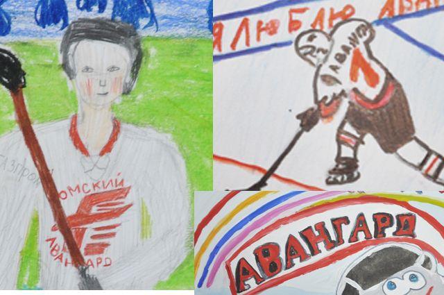 Рисунки конкурса «Я люблю хоккей».
