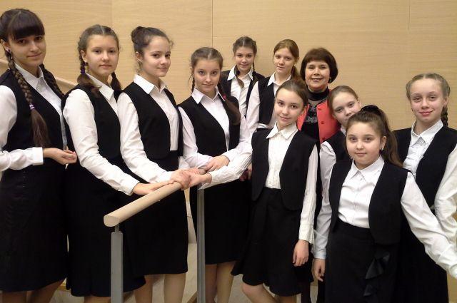 Омские вокалистки, которые вошли в состав Сводного детского хора.