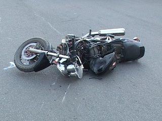 Под Курском в ДТП попал мотоциклист без прав