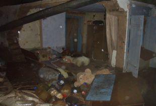 Во время ливня в Ростове олбрушилась стена частного дома на улице Красноаксайской,4.