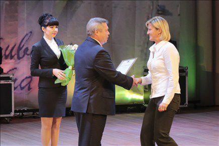 На торжественном открытии спортивного фестиваля молодых спортсменов приветствовал губернатор Ростовской области Василий Голубев