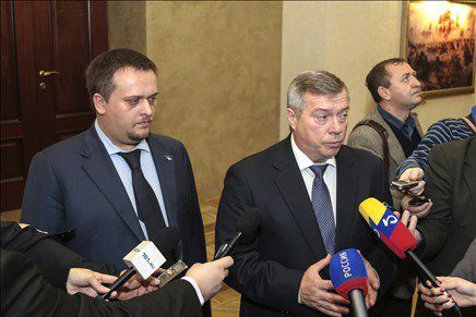 Ген.директор АСИ А.С.Никитин и губернатор Ростовской области В.Ю.Голубев.