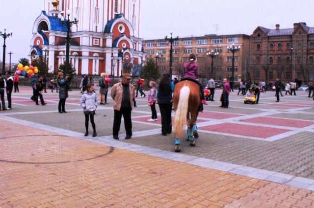 Комсомольская-Соборная площадь в Хабаровске