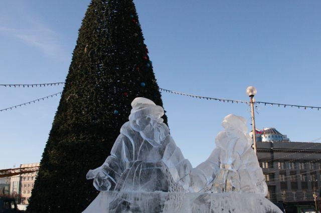 Ледовый городок в Челябинске в 2012-2013 годах