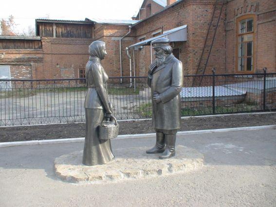 Памятник Шадринскому гусю в г. Шадринске.