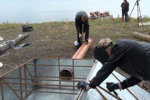 На озере Чебаркуль продолжаются работы по подъёму Челябинского метеорита