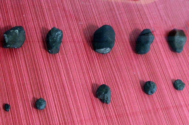 Ученые продемонстрировали все найденные осколки челябинского метеорита