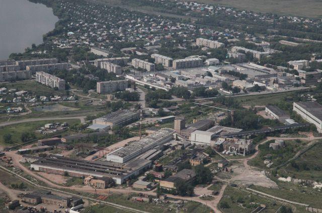 Вид на Копейск с высоты птичьего полета