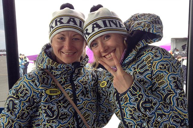 Украинские биатлонистки в Сочи
