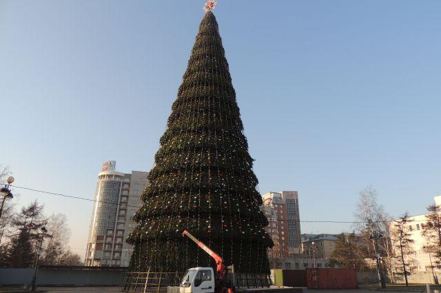 Главная елка Красноярска.