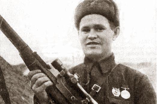 Василий Зайцев в Сталинграде.