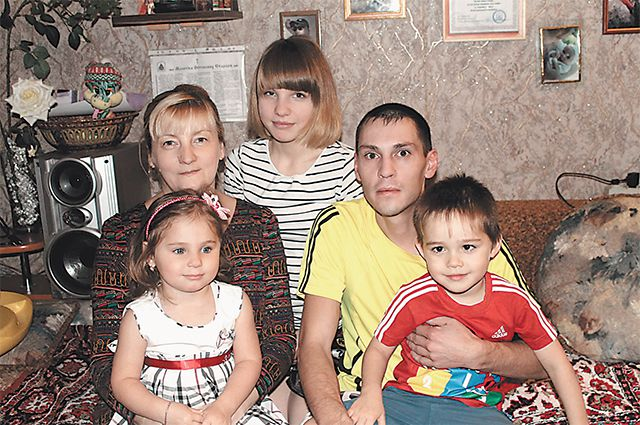 Счастье этой семьи - в детях.