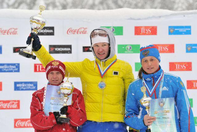 Анна Миленина на первом месте (в центре)