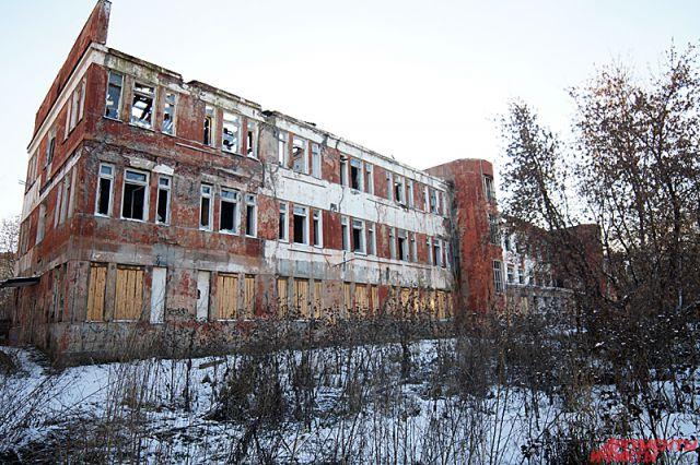 Засыпанное снегом и окруженное умирающими деревьями, строение стало пристанищем для бомжей и наркоманов.