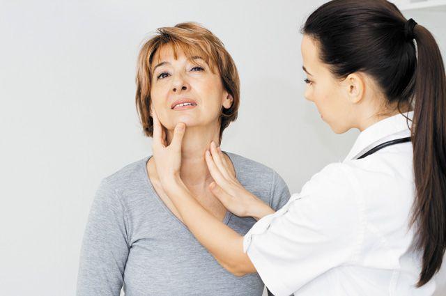 Увеличенный узел щитовидной железы