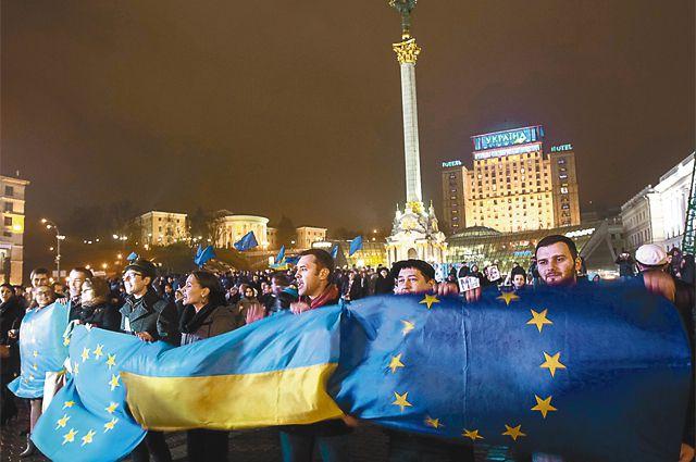 Радикально настроенные граждане Украины всё равно хотят в Евросоюз.