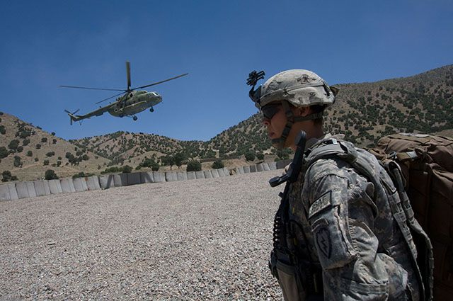 Вертолёт Ми-17 российского производства в Афганистане.