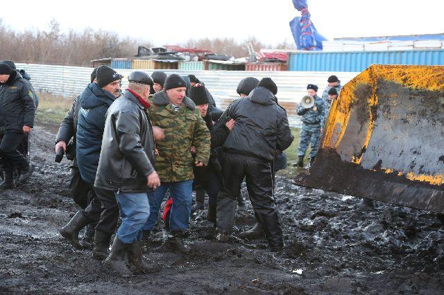 Акция протеста под Новохоперском