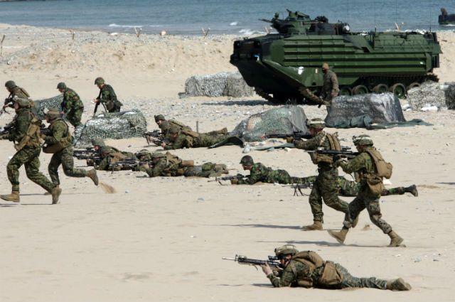 совместные военные учения США и Южной Кореи, архивное фото