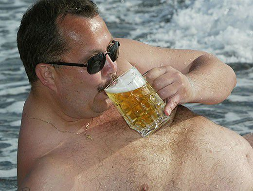 картинка толстого мужика с пивом
