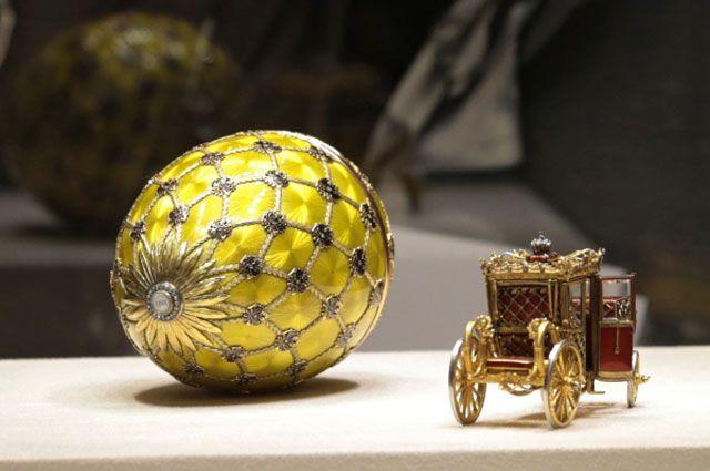 Экспонаты музея Фаберже.