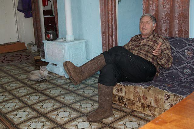 Один из старожилов Яркино Ефим Рукосуев.