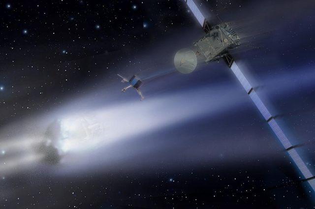 Ученые хотят посадить космический зонд «Розетта» на комету в 2014 году.