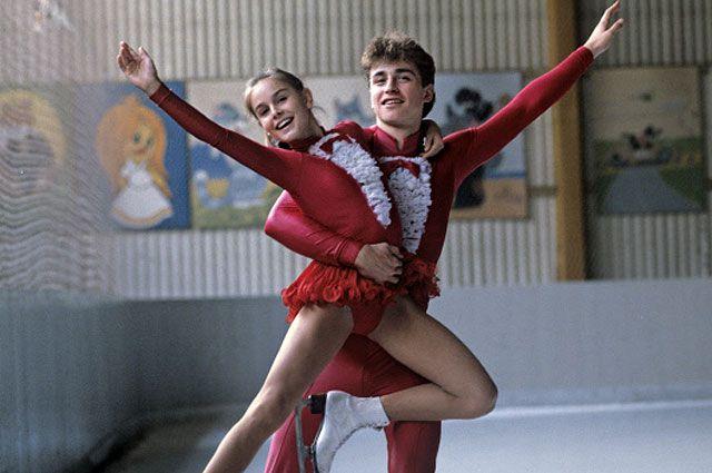 Чемпионы мира 1986 года в парном катании Екатерина Гордеева и Сергей Гриньков.