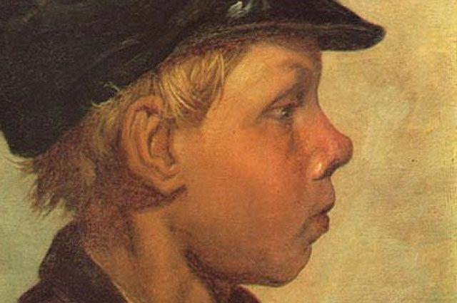 Фрагмент картины «Крестьянский мальчик (Ванька Жуков)» Николая Чехова, 1881 год.