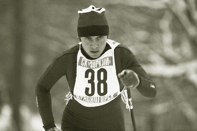 Член сборной команды СССР по лыжному спорту Раиса Сметанина, 1980 год.