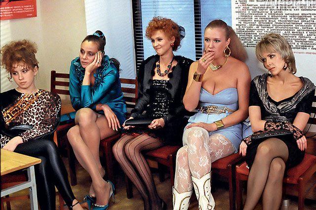 Компанию «на панели» Елене Яковлевой составили Любовь Полищук, Ингеборга Дапкунайте, Ирина Розанова. 1989 год.